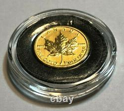 2014 Canada 1/10e Oz 5 $ Pièce De Monnaie Feuille D'érable D'or. 9999 Fine Gold, En Capsule