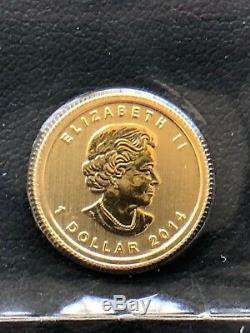 2014 Canada 1/20 Oz D'or Feuille D'érable Bu Emballage D'origine Monnaie