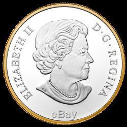2014 Canada 20 $ Pygargue À Tête Blanche Perché 1 Oz D'argent Pur Preuve Plaqué Or Pièce De Monnaie