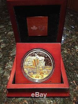 2014 Monnaie Royale Canadienne $ 10 Mille Preuve Once 100e Anniversaire De Première Guerre Mondiale 22/40