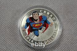 2014 Monnaie Royale Canadienne 15 $ Silver Coin Superman Action Comics #419