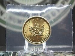 2015 $10 1/4 Oz Gold Canadian Maple Leaf Seeled East Coast Coin & Collectables