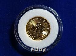 2015 Canada 1/10 Oz 5,9999 $ En Or Maple Leaf Monnaie Royale Canadienne Monnaie Wcapsule