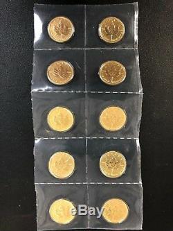 2015 Canada 1/20 Oz D'or Feuille D'érable Bu Emballage D'origine Monnaie