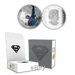 2015 Canada 20 $ Action Comics Superman # 2, 1 Oz. Proof Silver Coin Withogp + Coa