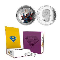 2015 Canada 20 $ Action Comics Superman # 28, 1 Oz. Proof Silver Coin Withogp + Coa