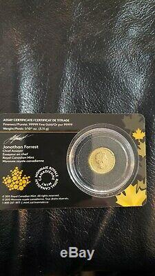2016 1/10 Oz Canadienne D'or Grognement Cougar Of The Wild 20 $ Gold Assay