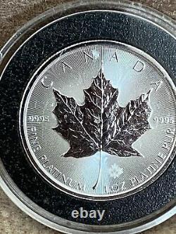 2016 1 Oz Platinum Canadian Maple Leaf Coin 50,9995 $ Bu Fin