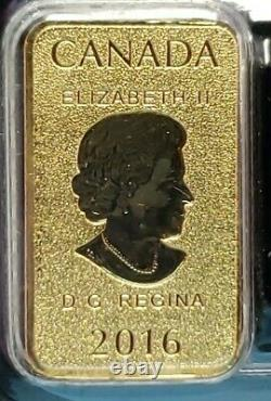2016 25,9999 $ Or 1/10e Bars Royal Canadian Mint 5 Bars 1/2oz Total Scellé