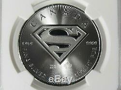 2016 Canada $ 5,9999 En Argent Fin, Superman Coin Ngc Mme 70 Premier Jour D'émission