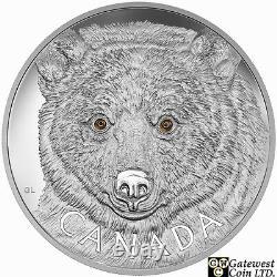 2016 Kilo'in The Eyes Of The Spirit Bear' Pièce D'argent De 250 $. 9999 Amende (17572)