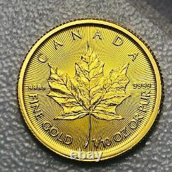 2017 1/10 Oz D'or Maple Leaf Coin