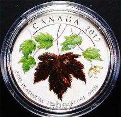 2017 300 $ 1 Oz. 9995 Proof Platinum Canada Pour Toujours Mapleleaf Dans La Capsule Originale