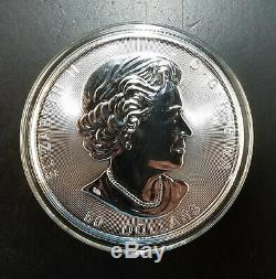 2017 50 Onces DIX $ Canada 10 Oz. 9999 En Argent Fin Grizzly Bear Coin Withcapsule