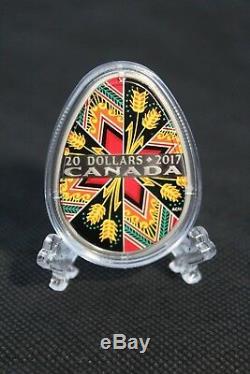 2017 Monnaie Royale Canadienne $ 20 Pièce En Argent Fin Traditionnel Pysanka