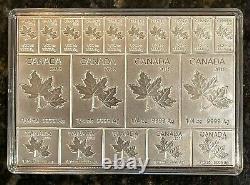 2018 Canada 2 Oz. C'est Mapleflex. 999 Barre De Feuille D'érable En Argent