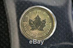 2018 Maple Leaf 1/20 Oz D'or Canada Pièce D'or Canadien Scellé