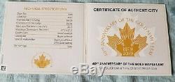 2019 $ 10 1/4 Oz Proof 40ème Anniv Gml 1/4 Oz Coin & Silver Bar Set 1 Oz Spécial