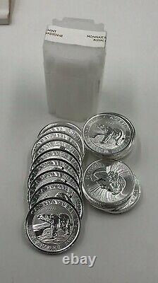 2019 $ 2 Canada Silver Polar Bear Rouleau De 20 Pièces De Monnaie Gem. 10 Onces D'argent Pur