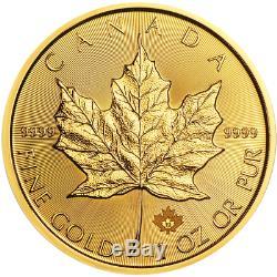 2019 50 $ Canadian Gold Maple Leaf. 9999 1 Oz Fleur De Coin