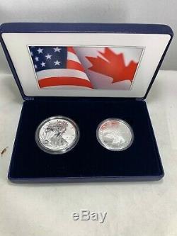 2019 Nous Monnaie Et La Monnaie Royale Canadienne 2 Oz Argent Pride Of Two Nations Silver Eagle