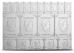 2019 Silver Maple Leaf 2 Oz Canadian Mapleflex Silver Combibar. 9999 Rare Fine