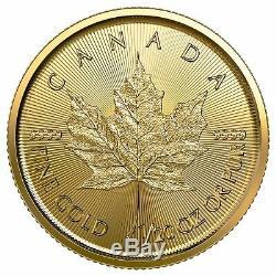 2020 $ 1 Médaille D'or Du Canada Feuille D'érable. 9999 1/20 Oz Brillant Uncirculated