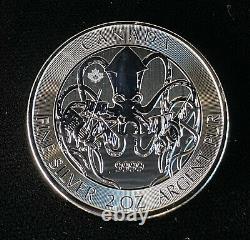 2020 10 $ 2 Oz. 9999 Kraken Canadien D'argent