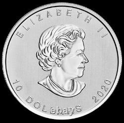 2020 2 Oz Argent. 999 Amende Canada $10 Dollar Flying Goose Coin Bu+