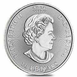 2020 2 Oz Créatures Royale Du Canada De La Série Nord Le Kraken Silver Coin Bu