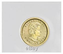 2020 Canada 1/20 Oz D'or Feuille D'érable $ 1 Coin Gem Bu Monnaie Sealed Sku60073
