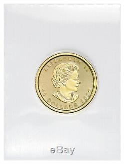 2020 Canada 1/4 Oz D'or Feuille D'érable Pièce De 10 $ Gem Bu Monnaie Sealed Sku60072
