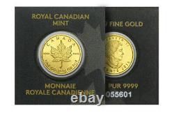 2020 Canada 1 Gram Gold Maple Leaf Coin In Maplegram Assay Card (en Anglais Seulement)