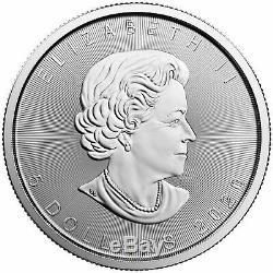 2020 Canada 1 Oz. 9999 Silver Maple Leaf Monnaie Royale Canadienne Tube De 25 Stoc
