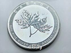 2020 Canada 10 Oz. 9999 Argent Magnifique Feuille D'érable Bu 50 $ 10 Oz