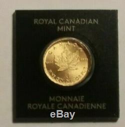2020 Canada Feuille D'érable D'or 1 Gramme. 9999 Fin