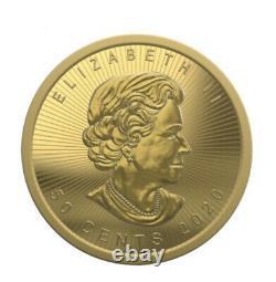 2020 Canada Gold 1 Gram Feuille D'érable. 9999 Amende À Partir D'une Feuille De Gramme D'érable