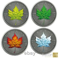 2020 Canada Maple Leaf Four Seasons Argent Set Coin