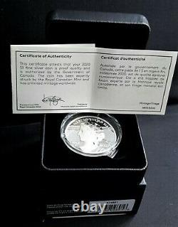 2020 Canada Peace Dollar Ultra High Relief 1$ 99,99% Pièce D'argent Pur Uhr