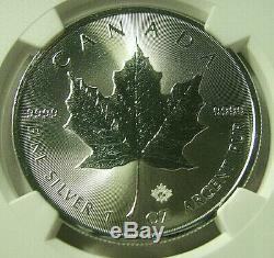 2020 Canada S 5 $ Maple Leaf 1 Oz. Silver Bullion Grève Ngc Ms70 Pop 21 Rare