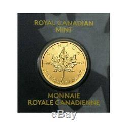 2020 D'érable En Or 1 Gramme Monnaie Royale Canadienne Pièce 24kt. 9999 En Assay Comme Bar