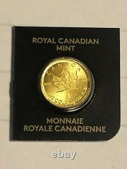2020 Feuille D'érable Aurifère Du Canada 1 Gramme. 9999 Bien