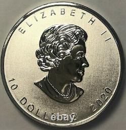 2020 Goose Maple Leaf 2 Oz. 9999 Argent 10 $ Pièce De Monnaie Canada Alex Colville