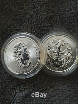 2020 Kraken Royale Du Canada Créatures Du Nord 2 Oz Silver Coin Nouvelle Capsule