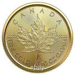 2020 Or 1/10 Oz 9999 Fine Canada $5 Dollar Coin Queen Elizabeth Brilliant Unc