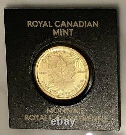2020 Or 1 Gramme Maplegram 50 Cent Pièce 9999 Lingots D'or -monnaie Royale Canadienne