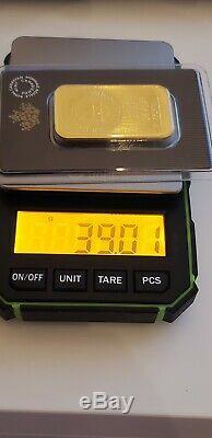 2020 Pure Gold 1 Oz Bar / Nouveau Design Mrc. 9999 Au Monnaie Royale Canadienne