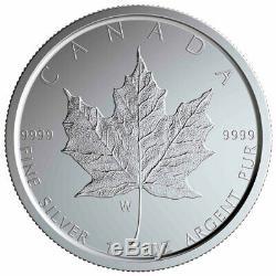 2020 W Canada 1 Oz D'argent Bruni Maple Leaf 5 $ Coin Gem Bu Sku59501