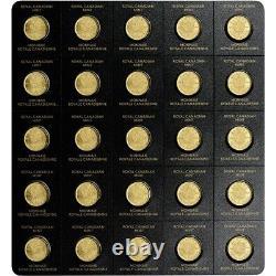 2021 25x 1 Gramme D'or Maple Leafs Rcm Maplegram25 Dans Assay In Stock