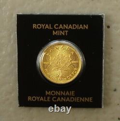 2021 Canada 1 Gram. 9999 Pièce De Feuille D'érable En Or Fin De Feuille D'érable